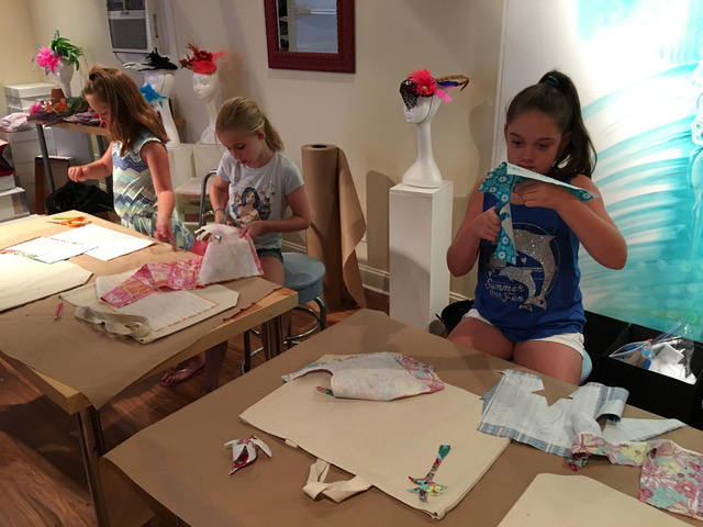 girls creating things at the Mill