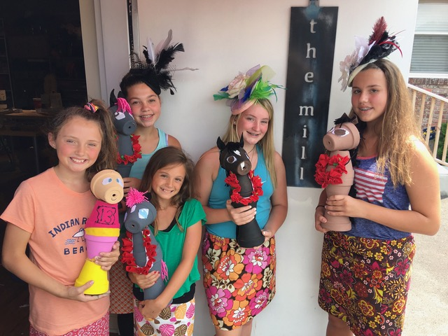 girls showing creations campKenzie