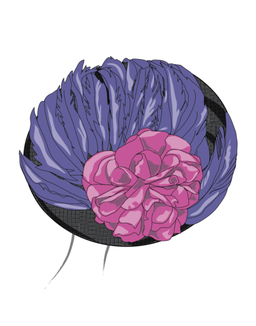purple and pink derby hat design