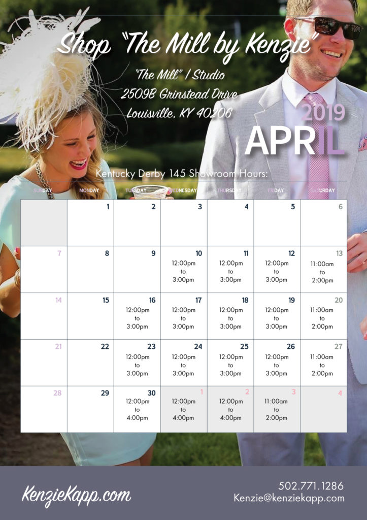 flyer The Mill 2019 with calendar