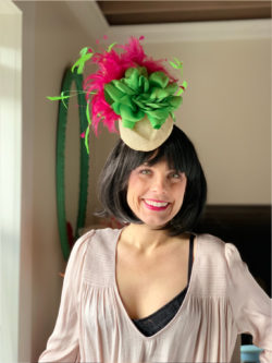 Kenzie Kapp Facinator Derby Hat green flowers