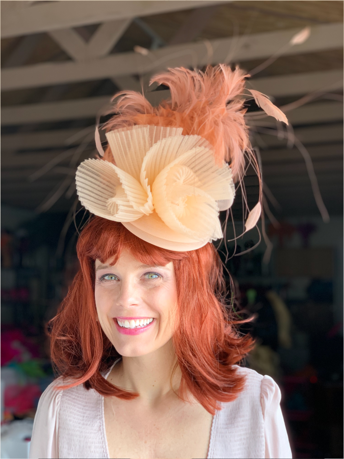 Kenzie Kapp Facinator Derby Hat peach