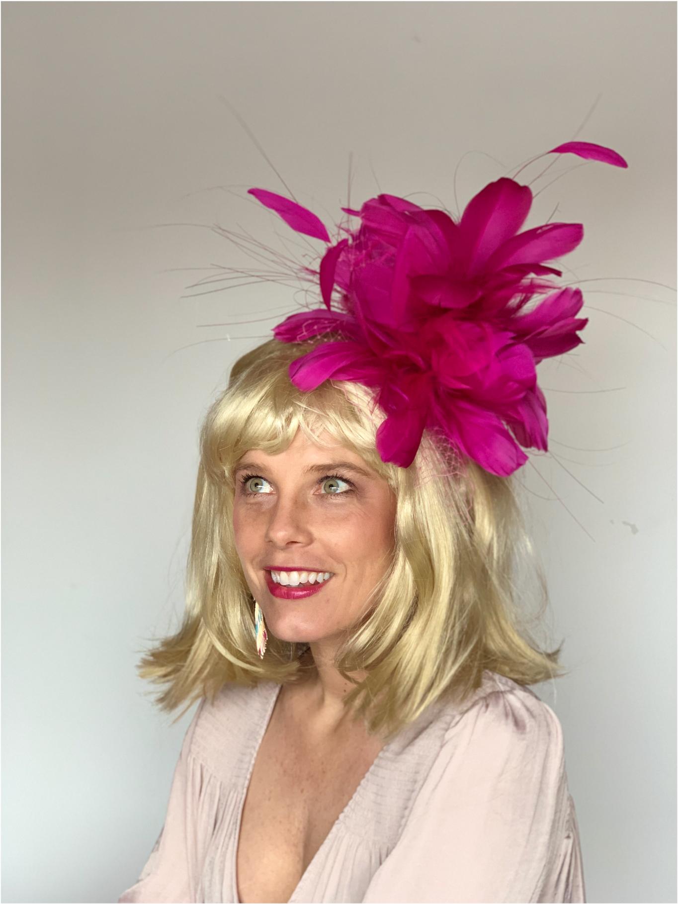 Kenzie Kapp Facinator Derby Hat pink fuchsia