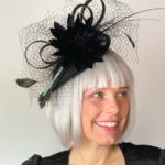 black Kentucky derby hat