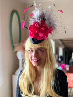 Kenzie Kapp pink gray Derby Hat