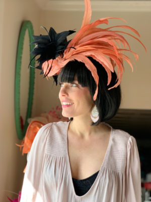 Kenzie Kapp orange Black Derby Hat