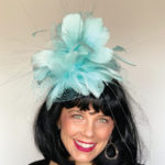 light blue derby hat