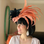 orange black Kentucky Derby hat Louisville