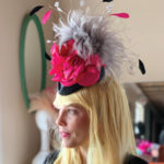 pink gray Kentucky Derby hat
