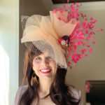 Authentic Kentucky Derby hat pink peach