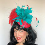 red jade Kentucky derby hat
