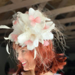White pink local Kentucky Derby hats
