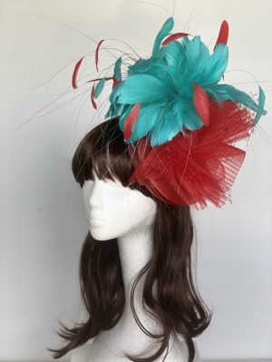 Bright Red and Teal Blue