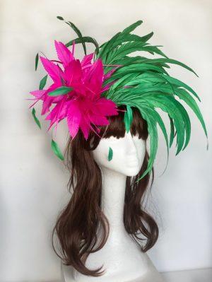 Hot Pink & Emerald Green