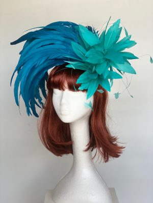 Blue and Turquoise Feather